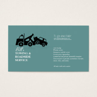 Towing Roadside Wrecker Service Business Card