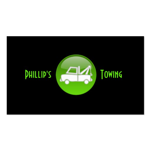Towing Truck Business Card