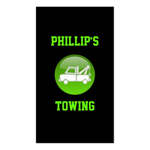 Towing Truck Tow Car Service Business Card