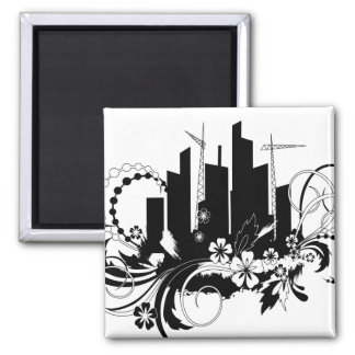 town 2 inch square magnet