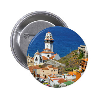 Town and basilica of Candelaria at Tenerife Pinback Button