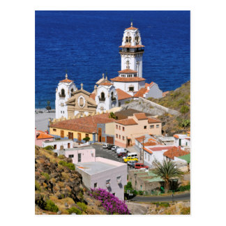Town and basilica of Candelaria at Tenerife Postcard