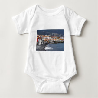 Town and beach of Candelaria at Tenerife Baby Bodysuit