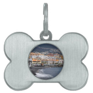 Town and beach of Candelaria at Tenerife Pet Name Tags