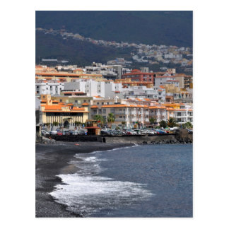 Town and beach of Candelaria at Tenerife Postcard