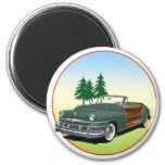 Town and Country 2 Inch Round Magnet