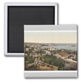 Town and harbor from St. Dimila, Beyrout, Holy Lan Fridge Magnet