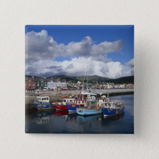 Town and Harbour, Dingle, County Kerry, Button