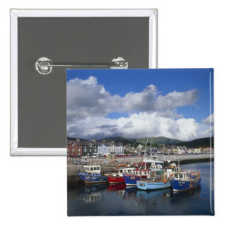 Town and Harbour, Dingle, County Kerry, 2 Inch Square Button