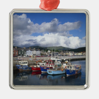 Town and Harbour, Dingle, County Kerry, Square Metal Christmas Ornament