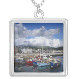 Town and Harbour, Dingle, County Kerry, Silver Plated Necklace