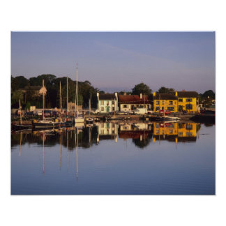 Town and harbour, Kinvarra, County Galway, Poster