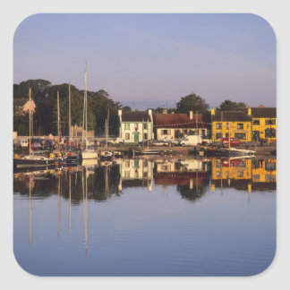 Town and harbour, Kinvarra, County Galway, Square Sticker