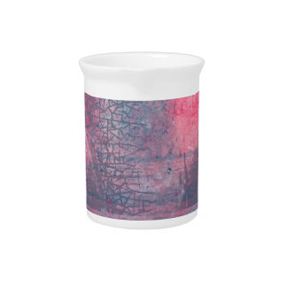 Town and the storm, pink, gray, blue beverage pitchers