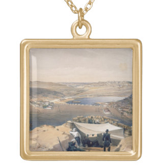 Town Batteries, or Interior Fortifications of Seba Gold Plated Necklace