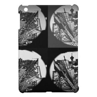 town center 3 POINT perspective black & white Cover For The iPad Mini