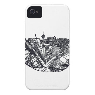 town center in 3 POINT perspective iPhone 4 Case-Mate Case