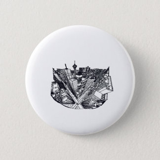 town center in 3 POINT perspective Pinback Button