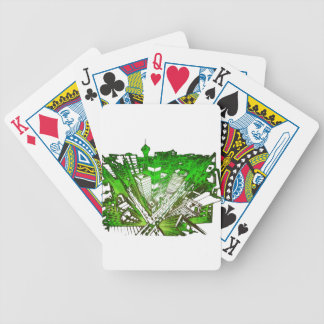 town center in 3 POINT perspective special version Bicycle Playing Cards