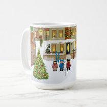 Town Christmas Carolers Christmas Mug
