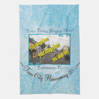 Town City Homecoming Aquamarine Commemorative Towel