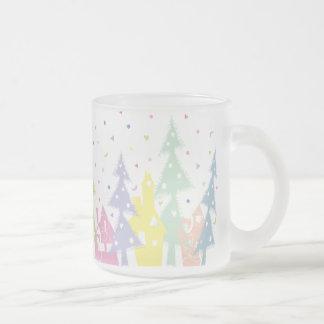 Town_colour del navidad taza de cristal