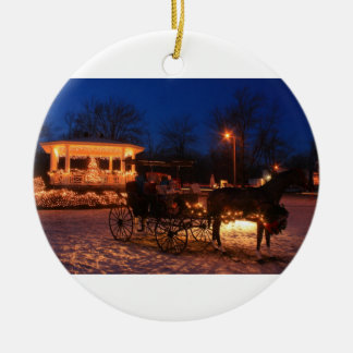 Town Common Holiday Ceramic Ornament