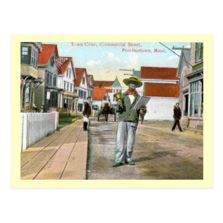 Town Crier Commercial St Provincetown Vintage Post Card