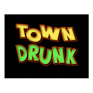 Town Drunk Beer T-shirts Gifts Postcard