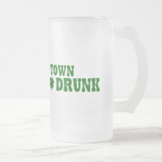 Town Drunk Frosted Glass Beer Mug