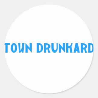 Town Drunkard Classic Round Sticker