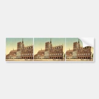 Town hall and St. Nicholas Church, Stralsund, Pomm Bumper Sticker