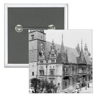 Town Hall, Breslau  Poland, c.1910 Pinback Buttons
