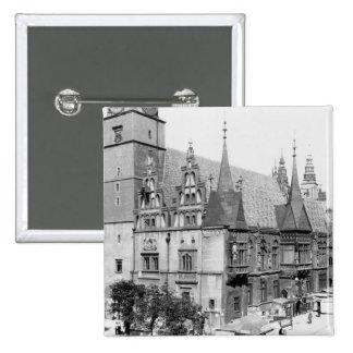 Town Hall, Breslau  Poland, c.1910 Pinback Button