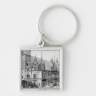 Town Hall, Breslau  Poland, c.1910 Silver-Colored Square Keychain