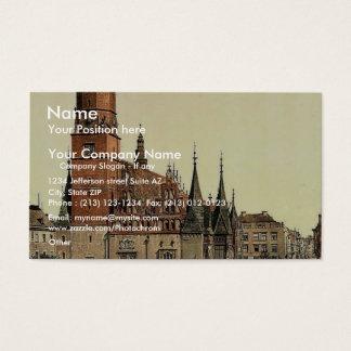 Town hall, Breslau, Silesia, Germany (i.e., Wrocla Business Card
