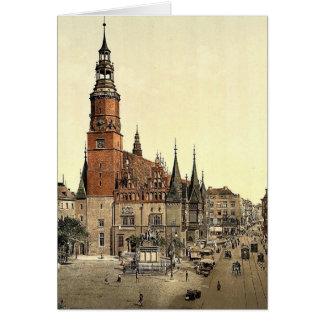 Town hall, Breslau, Silesia, Germany (i.e., Wrocla Greeting Cards