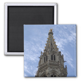 Town Hall, Brussels 2 Inch Square Magnet