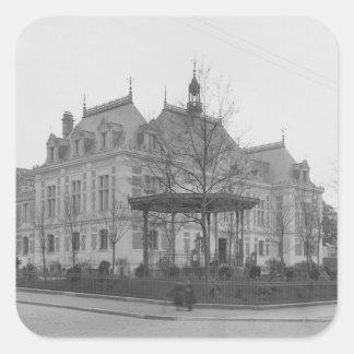 Town Hall, c.1886-90 Square Sticker