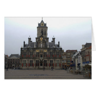 Town hall, Delft Card