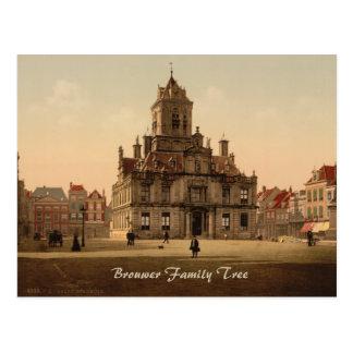Town Hall, Delft, Netherlands Postcard