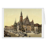 Town hall from the east, Breslau, Silesia, Germany Greeting Card