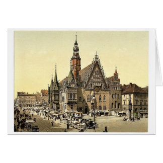 Town hall from the east, Breslau, Silesia, Germany Card