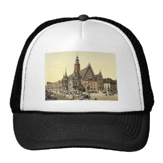 Town hall from the east, Breslau, Silesia, Germany Trucker Hat