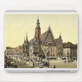 Town hall from the east, Breslau, Silesia, Germany Mouse Pad