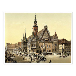 Town hall from the east, Breslau, Silesia, Germany Postcard