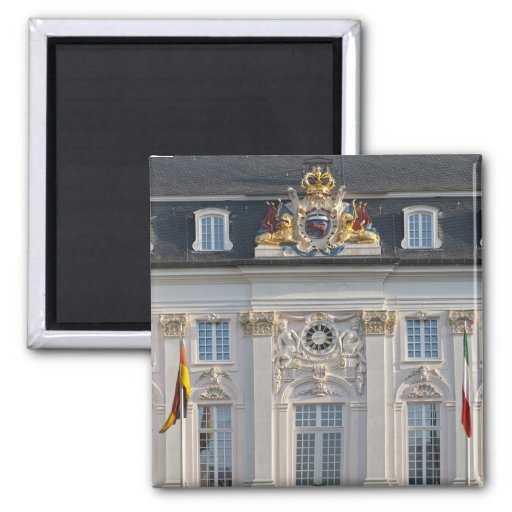 Town Hall in Bonn, Germany 2 Inch Square Magnet