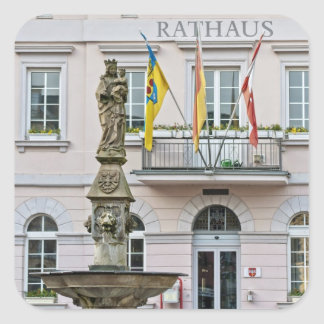 Town Hall in Remagen, Germany Square Sticker