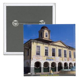 Town Hall, Lucea, Jamaica Pin