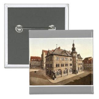 Town hall, Nordhausen, Thuringia, Germany rare Pho Pinback Button